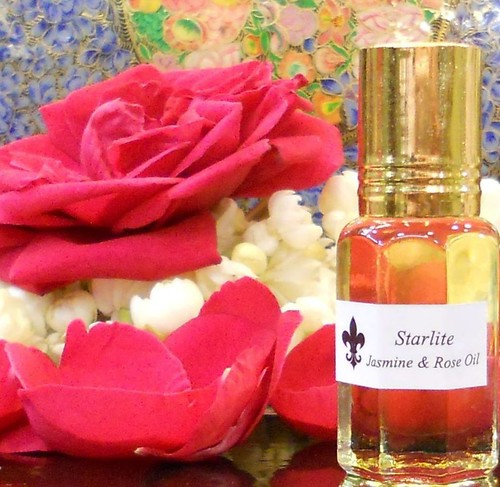 Pure Jasmine and Rose Oil Absolute- Perfume - All Natural Aromatherapy Essential Oils ~ Rose and Jasmine Perfume ~ Bridesmaids Gift Ideas | by Naomi King