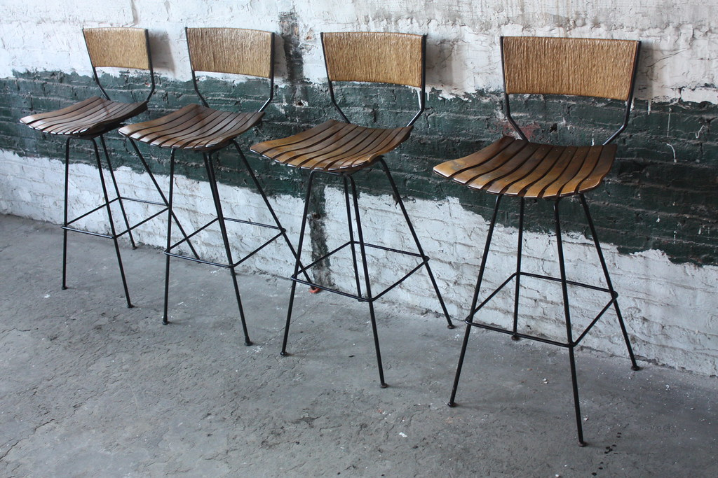 ... Amazing Arthur Umanoff Slat Wood u0026 Raffia Bar Stools for Raymor (U.S.A. 1950u0027s) & Amazing Arthur Umanoff Slat Wood u0026 Raffia Bar Stools for Ru2026 | Flickr islam-shia.org