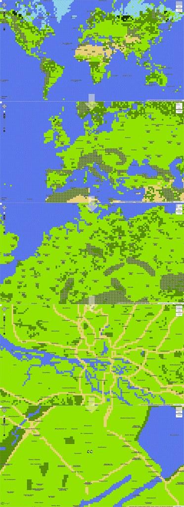 8Bit Worldmap Europe Germany Hamburg April Fools Da Flickr