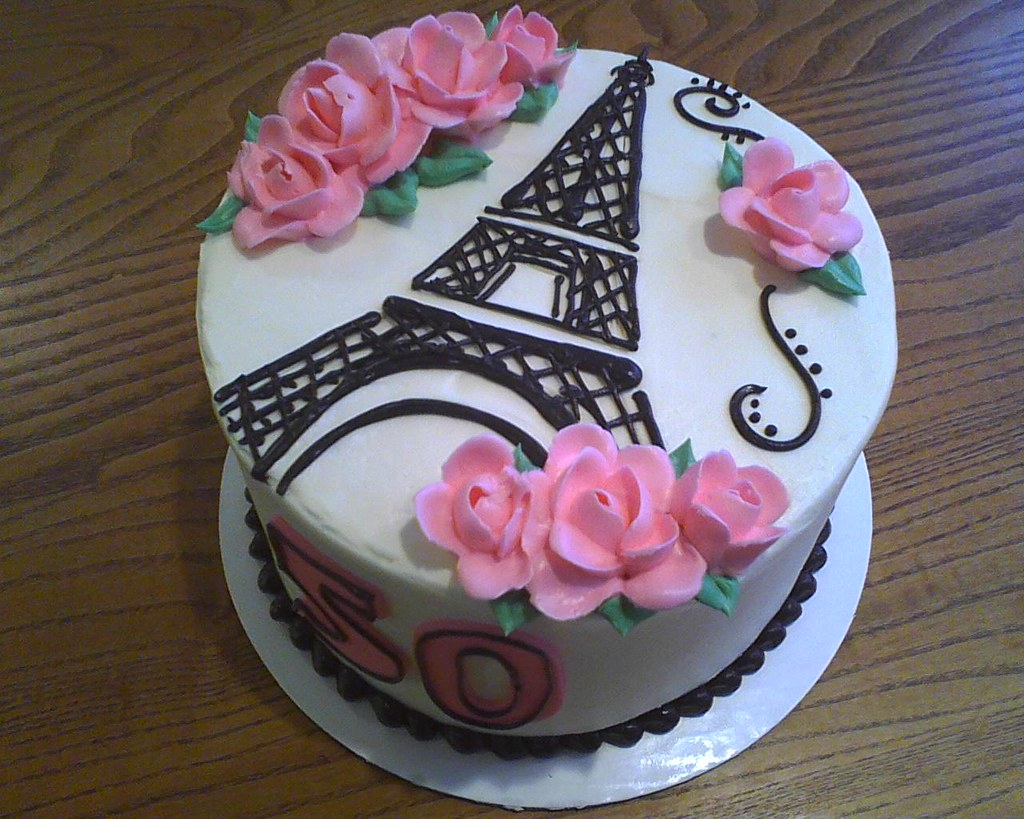 Eiffel Tower Birthday Cake Delicately Delicious Flickr