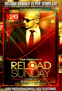 PSD Reload Sunday Flyer Template | by mexelina