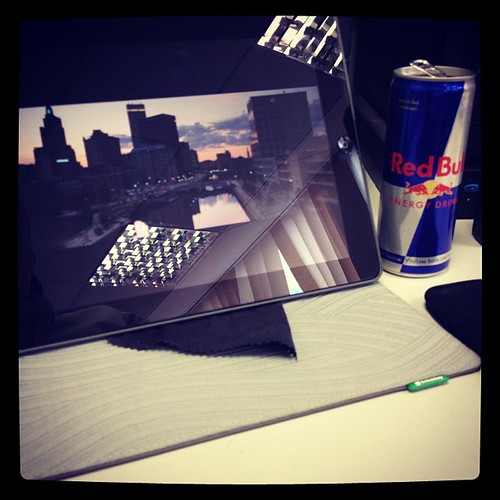 Really busy morning #ipad3 #hallpass #redbull #iphone4s does life get any harder than this | by Rankins_pics