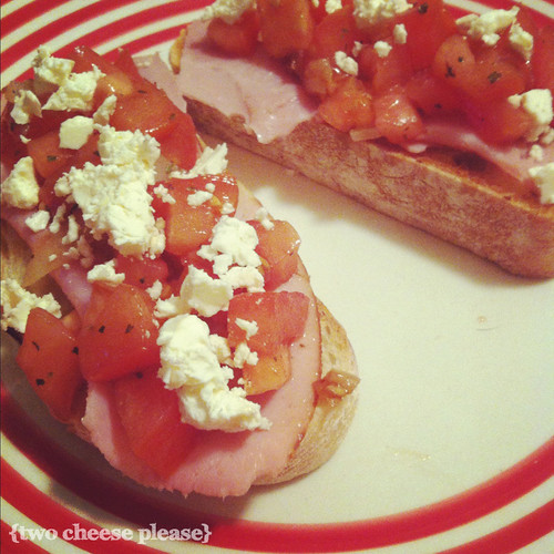 Weekend bruschetta (the best kind!) | by Two Cheese Please