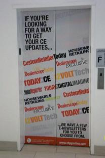 Elevator Door Graphics   by TruckSkin Elevator Door Graphics   by TruckSkin
