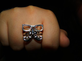 mustache face ring | by tacohannah