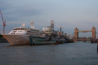 Silver Cloud and HMS Belfast | by gary8345