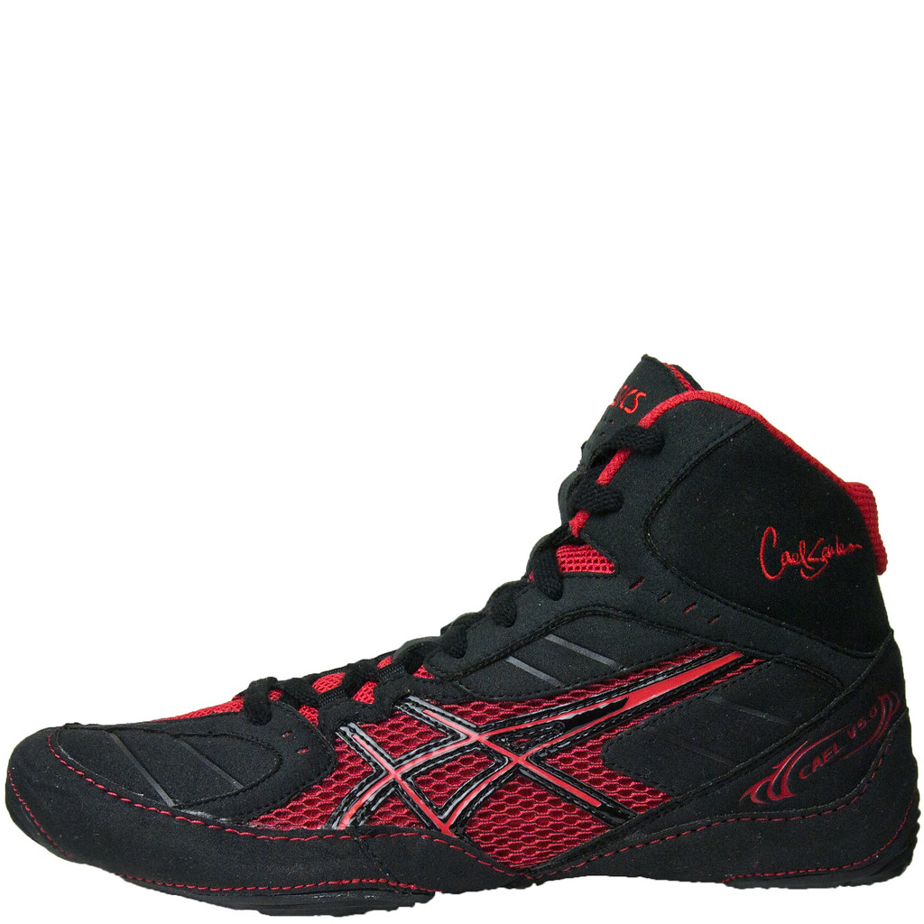 Asics Cael V5.0 Wrestling Shoes Red Black | New for the 2012… | Flickr