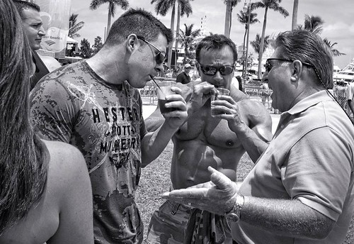 body builders sipping cocktails through tiny straws | by streetshooter 45
