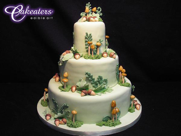 forest wedding cake cakeaters edible art flickr