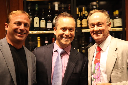 CEO John Jordan, National Sales Director Chris Avery and Winemaker Rob Davis of Jordan Vineyard & Winery at Sherry Lehmann | by jordanwinery.com