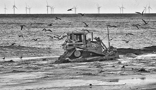 Tractor Trusthorpe beach | by riverdance220