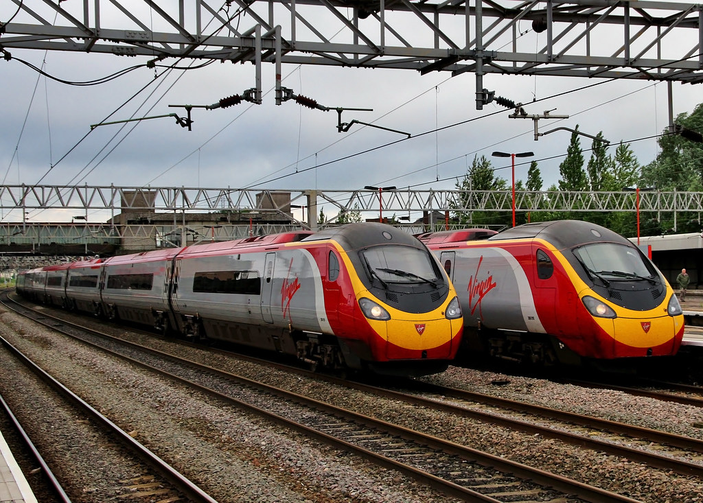 Virgin Pendolinos at Stafford
