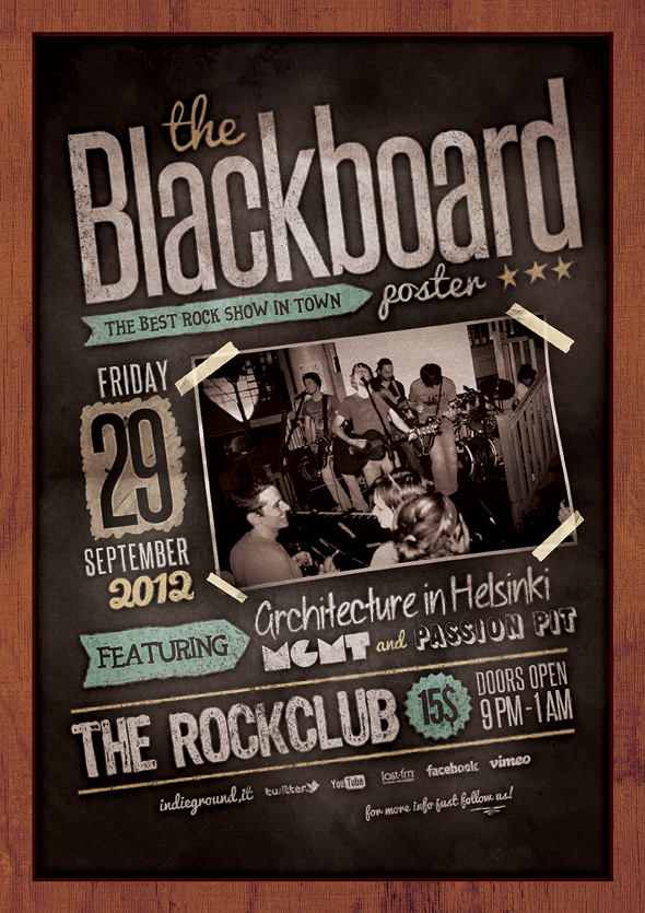 Blackboard Flyer Poster Photoshop Psd Template Download Flickr