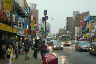 Rain in FLushing Main Street | by LunchboxLarry