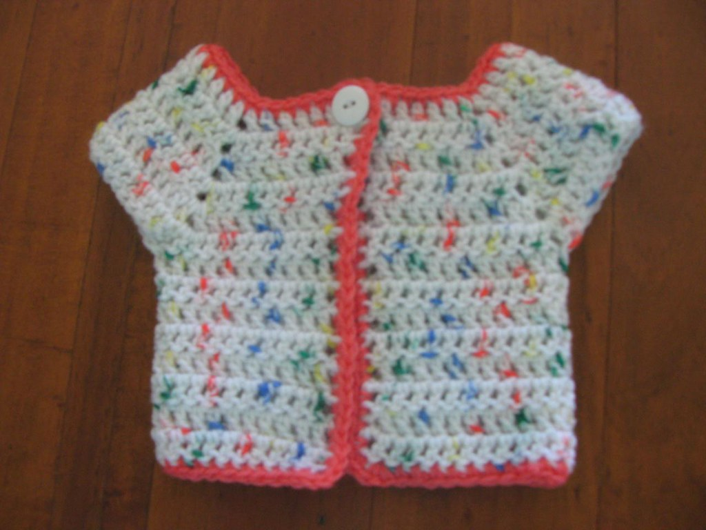 Baby Top Down Crochet Raglan 1b Crochet 8ply Acrylic Top Flickr