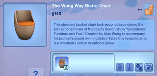 The Wong Way Bistro Chair | by SimsVIP