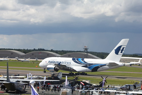 Malaysia Airlines Airbus A380 at Farnborough | by AirlineReporter.com