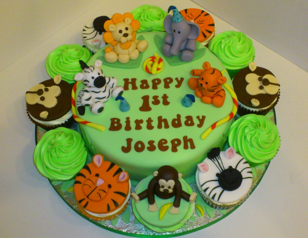 Birthday Cakes Jungle Theme ~ Jungle theme st birthday cake liz flickr