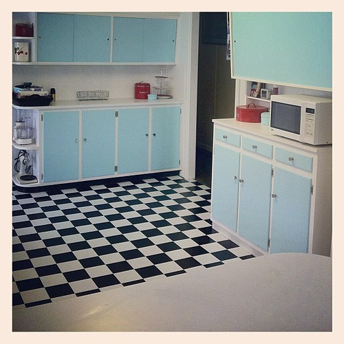 Another View Of Our Retro Kitchen Post-renovation (new Pai