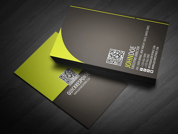 quick response business card design ver 05 by lemongraphic - Quick Business Cards