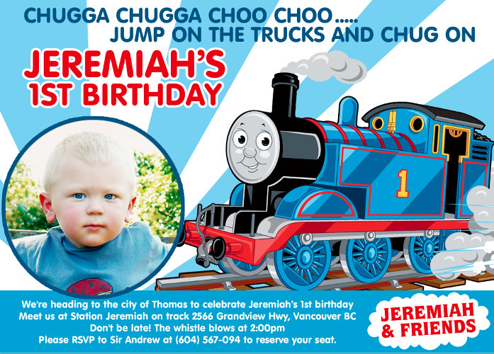 Thomas Train Custom Birthday Invitation Printable Birthda Flickr