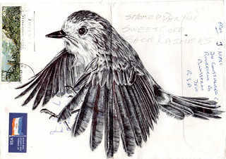 Bic Biro on 1980s envelope | by mark powell bic biro drawings