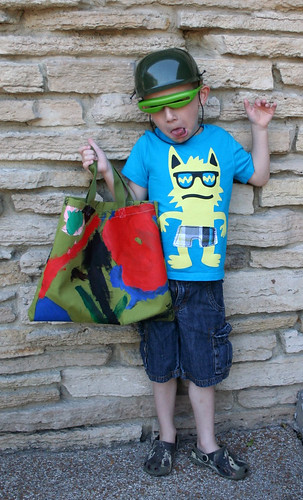 Tyler's Painted Library Bag | by Mle BB