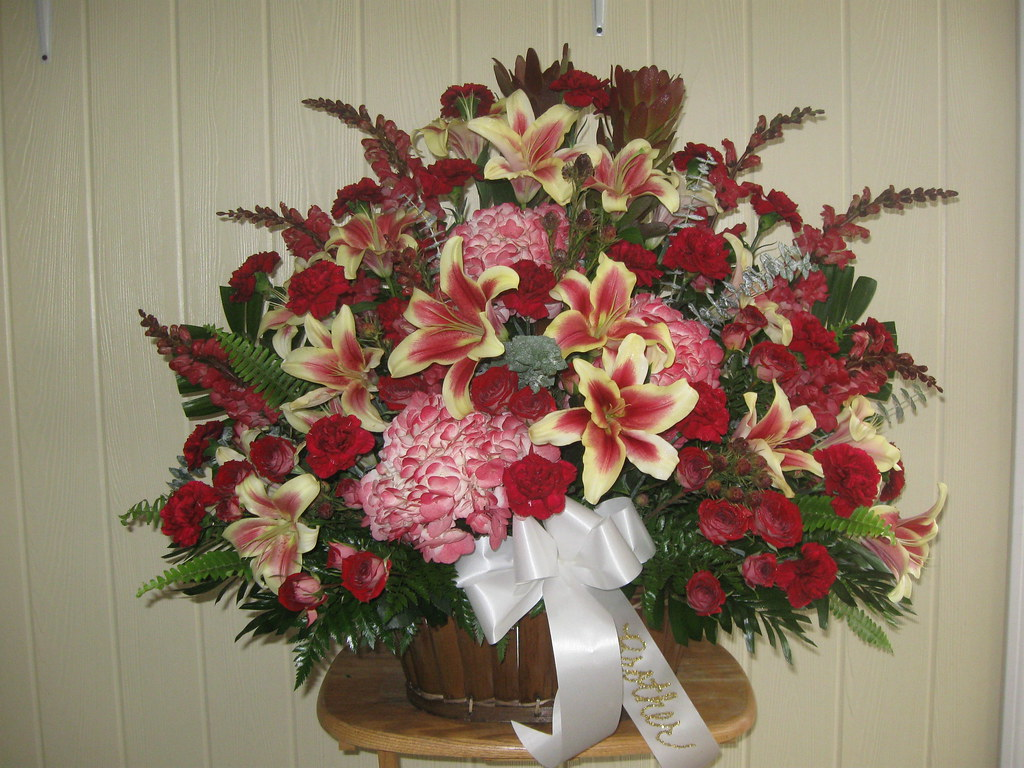 Funeral Flowers Delivered To Barile Funeral Home Stoneham Flickr