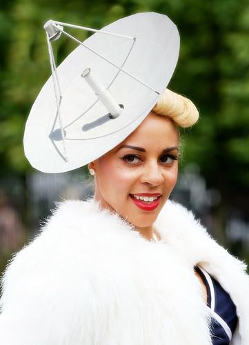 C-Band Radar Dish Antenna - Dishy Blonde ( Ascot ladies day )