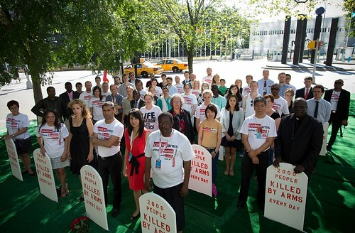 Control Arms Campaigners at the UN Arms Trade Treaty negotiations, NYC, July 2012 | by Oxfam International