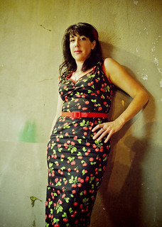 Retro cherry dress | by Vorona Photography