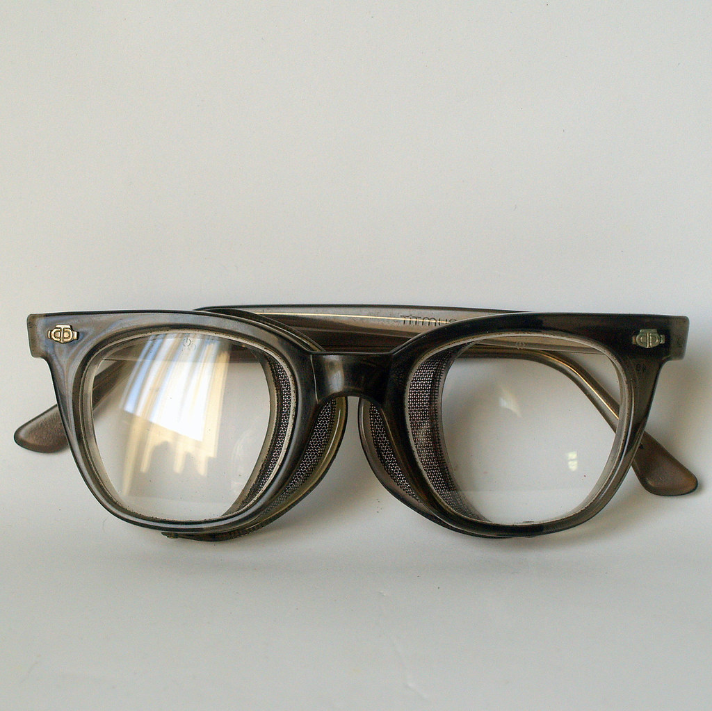 50s COOL SAFETY GLASSES Vintage Titmus Industrial Blue Col… | Flickr