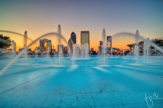Jacksonville Skyscrapers over the Fountain | EXPLORED Front Page | by Ton Ten