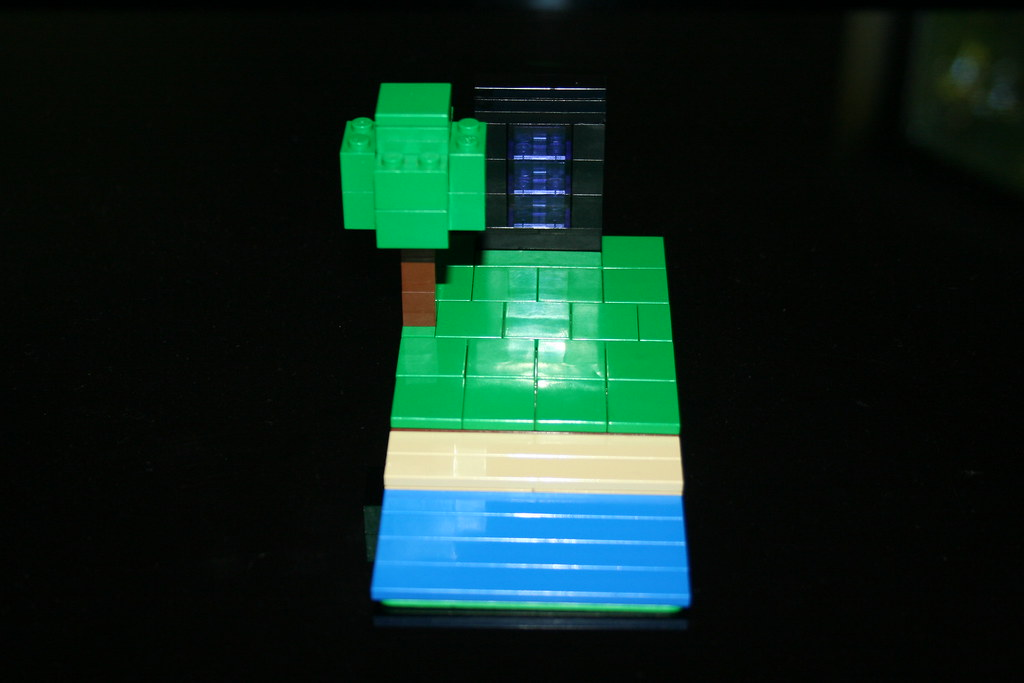 Lego mini Minecraft nether portal | By me. | Keaton FillyDing | Flickr