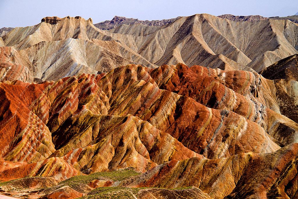 张掖丹霞地貌Zhangye Danxia Landform Geological Park, Gansu, Chi ...