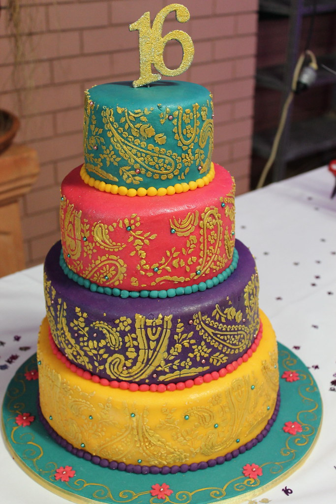 Bollywood Henna Cake Maryam Issadeen Flickr