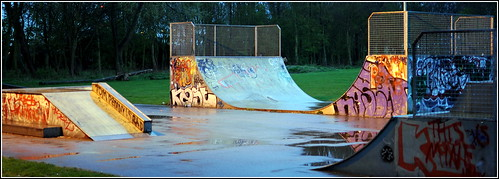Wet Skate park evening | by Adam Good
