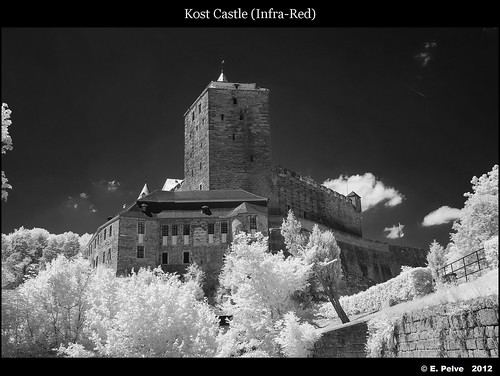 Kost Castle (B&W from Infra Red) - Czech Republic | by episa
