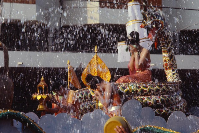 Songkran festival ( buddhist new year ) in Chiangmai.