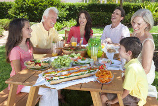 Parents Grandparents Children Family Healthy Eating Outside | by SalFalko