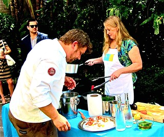 ben ford of ford's kitchen adn asst prepare winning dish | by jayweston@sbcglobal.net