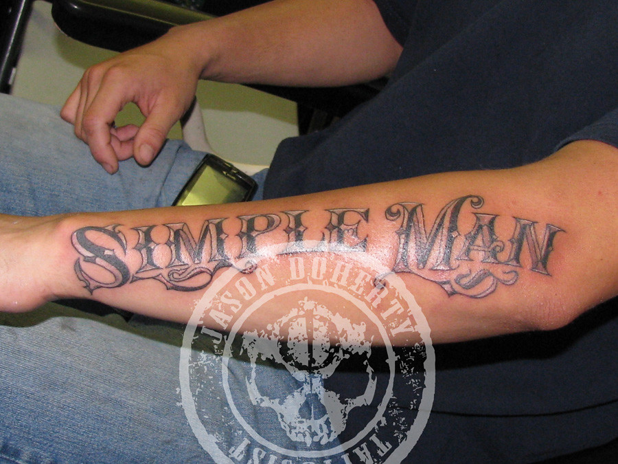 Simple Man Tattoo Hand Drawn Text No Computer Mommy Flickr