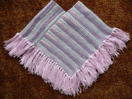 Poncho A sirdar pattern using Baby crofter & plain pink Da? Flickr