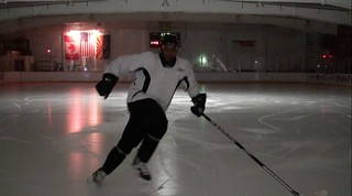 Brad Perry hockey showing a Backward crossover 1 | by Brad Perry