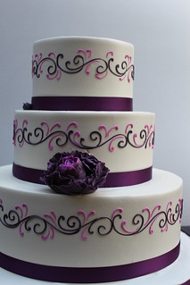 Purple and Lilac Scroll | by Alliance Bakery