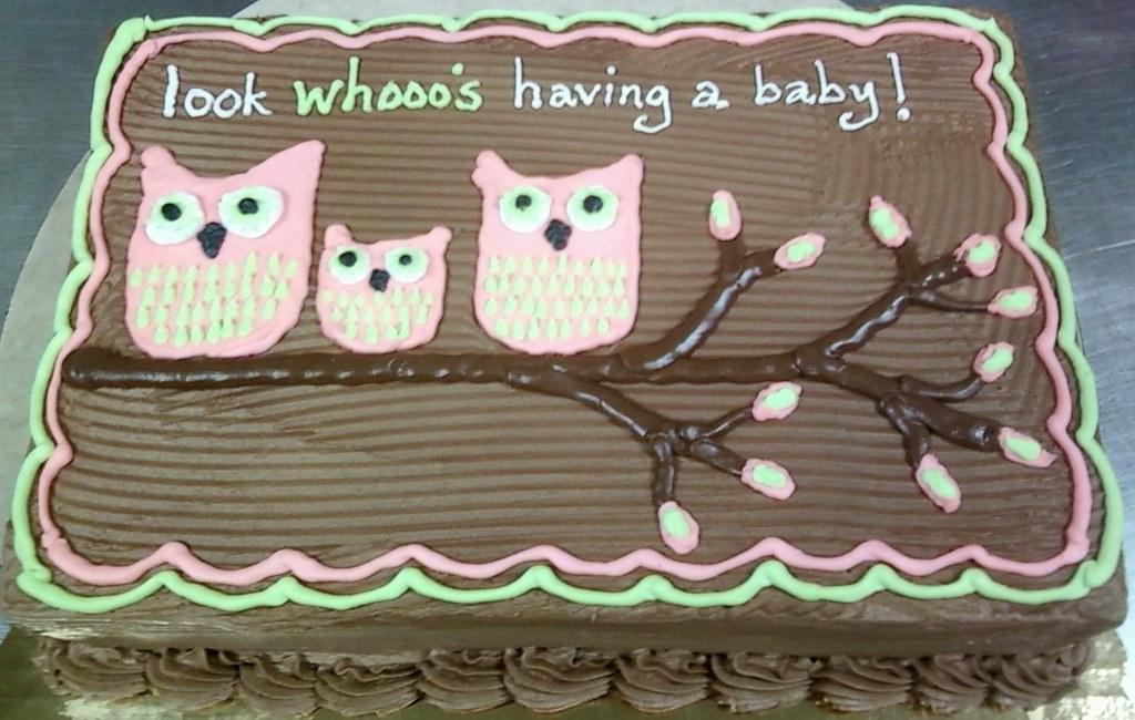 Owl Baby Shower Cake Santonis Owl Theme Baby Shower Sheet