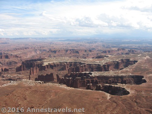 Views from Grand View Point, Canyonlands National Park, Island in the Sky District, Utah