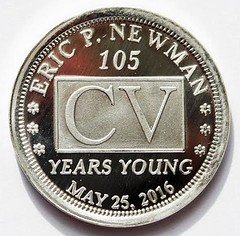 Eric newman 105 token obverse