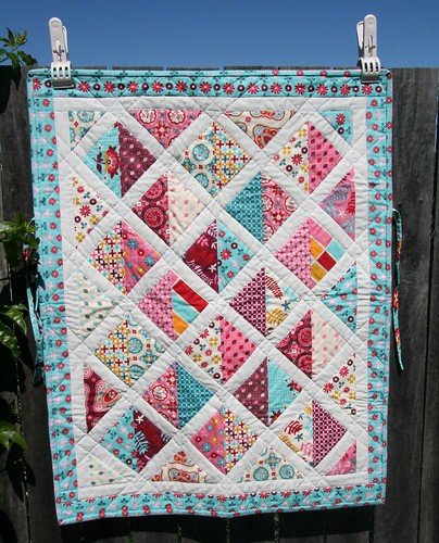 Car Seat Quilt in Domestic Bliss | by Three Honeybees