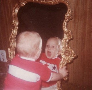 Baby in the Mirror | by The Cardboard America Archives